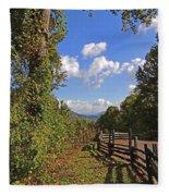 Smoky Mountain Scenery 12 Fleece Blanket