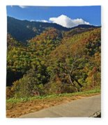 Smoky Mountain Scenery 8 Fleece Blanket