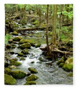 Smoky Mountain Stream 1 Fleece Blanket