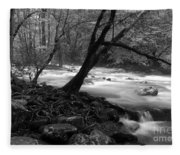 Smoky Mountain Stream Fleece Blanket