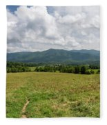 Smoky Mountains Cades Cove 1 Fleece Blanket