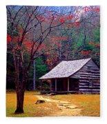 Smoky Mtn. Cabin Fleece Blanket