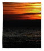 Smoky Sunrise Fleece Blanket