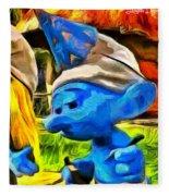 Smurfette And Friends - Pa Fleece Blanket