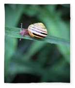 Snail In His Green Jungle Fleece Blanket