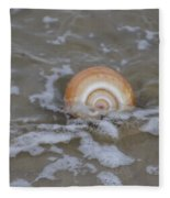 Snail In The Surf Fleece Blanket