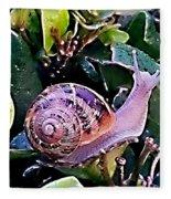 Snail On A Bush Version 2 Fleece Blanket