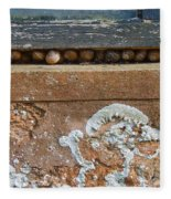 Snails At Home With Lichen Fleece Blanket