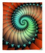 Snails On The Way Fleece Blanket