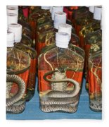 Snake In A Bottle Fleece Blanket
