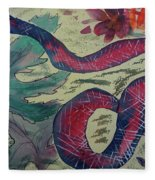Snake In The Garden Fleece Blanket