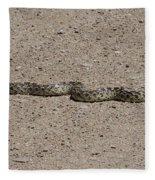 Snake On The Road Fleece Blanket