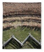Snake-rail Fence And Cornfield Fleece Blanket