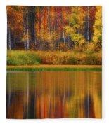 Snake River Fall Colors Fleece Blanket