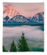 Snake River Overlook - Grand Teton National Park Fleece Blanket