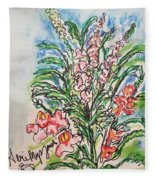 Snap Dragons Fleece Blanket