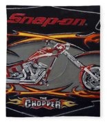 Snap-on Chopper Fleece Blanket