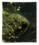 Snapping Turtle Head Fleece Blanket