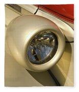 Snazzy Headlamp On Antique Car Fleece Blanket