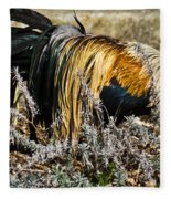 Sneeking Rooster Fleece Blanket