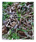 Snipe In Camouflage 2 Fleece Blanket