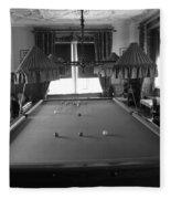 Snooker Room Fleece Blanket