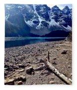 Snow Above Moraine Lake Fleece Blanket