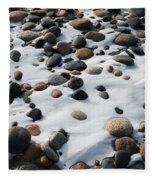 Snow And Stone Fleece Blanket