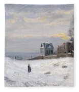 Snow At Montmartre Fleece Blanket