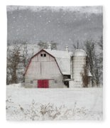 Snow Barn Fleece Blanket