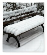 Snow Bench Fleece Blanket