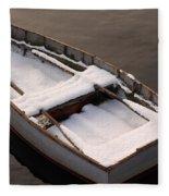 Snow Boat Fleece Blanket