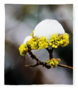 Snow Capped Flower Fleece Blanket