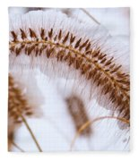 Snow Capped Foxtail Fleece Blanket