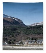 Snow Capped Mourne Mountains Fleece Blanket