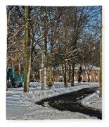 Snow Cleared Road Fleece Blanket
