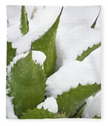 Snow Covered Agave Fleece Blanket