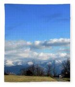 Snow Covered Mountains Fleece Blanket
