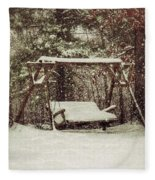 Snow Covered Swing Fleece Blanket