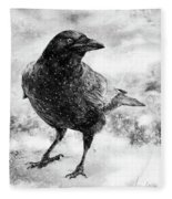 To Know A Crow Fleece Blanket