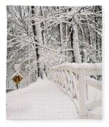 Snow Curve Fleece Blanket