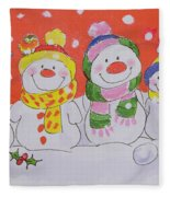 Snow Family Fleece Blanket