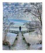Snow Fantasy Fleece Blanket