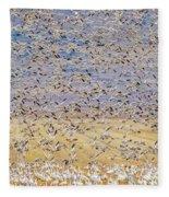Snow Geese Take Off 3 Fleece Blanket