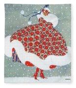 Snow Girl Fleece Blanket