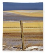 Snow Hills Saskatchewan Fleece Blanket