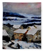 Snow In Ardennes 79 Fleece Blanket