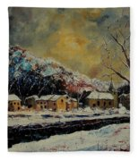 Snow In Bohan Fleece Blanket