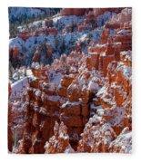 Snow In Bryce Canyon Fleece Blanket