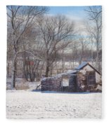 Snow In Plymouth Meeting Fleece Blanket